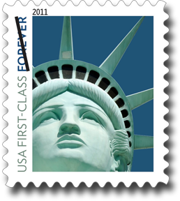 Lady Liberty Stamp with Wrong Statue of Liberty